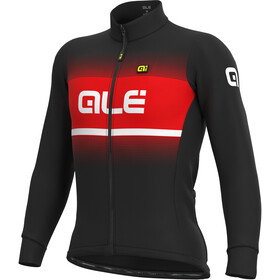 Alé Cycling Solid Blend Winter Maglia Jersey A Maniche Lunghe Uomo, nero/rosso